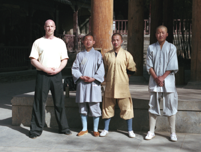 Sigung with teaching monks at Shaolin Temple
