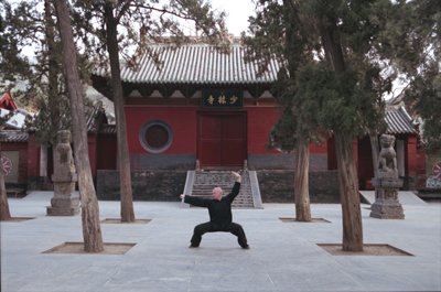 Sigung training at Shaolin Temple